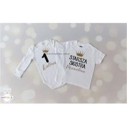Zestaw dla rodzeństwa body + koszulka